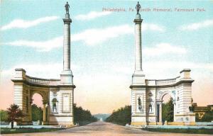 Philadelphia Pennsylvania~Fairmount Park Smith Memorial Gates~1910 Postcard