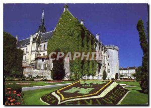 Postcard Modern Charente Angouleme The City Hotel and the square J Kennedy