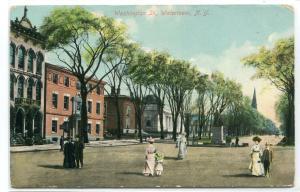 Washington Street Watertown New York 1910c postcard