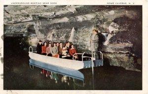 NY - Howe Caverns. Underground Boating