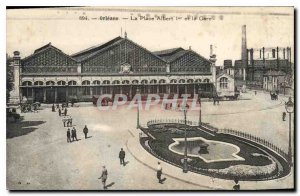 Old Postcard Orleans Place Albert I and Gare