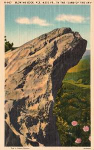 Blowing Rock, North Carolina, NC, Land of the Sky, Linen Vintage Postcard g792
