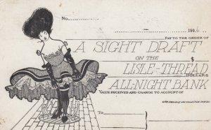 A Sight Draft , Lisle Thread All-Night Bank , 00-10s