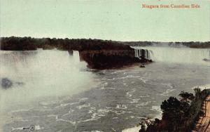 Niagara Falls from the Canadian Side, Early Postcard, Used
