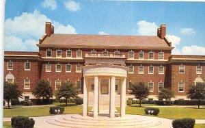 Dallas Texas 1960s Postcard Cenotaph Law School at SMU Southern Methodist