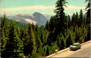 Yosemite National Park CA Half Dome Tioga Rd Postcard used (14039)