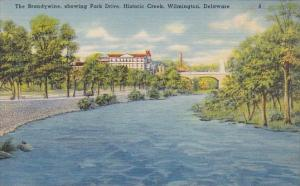 The Brandywine Showing Park Drive Historic Creek Wilmington Delaware
