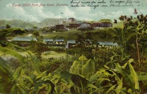 panama, CAMP ELLIOTT, General view of Marine Camp from New Road (1913)