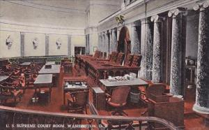 U S Supreme Court Room Washington D C 1918