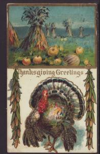 Thanksgiving,Turkey,Haystacks Postcard