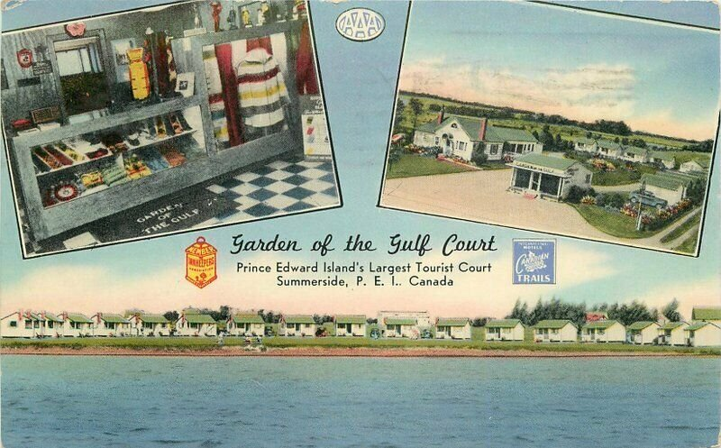 Garden of Gulf Coast Summerside PEI Canada 1954 Postcard Interior Tichnor 6544