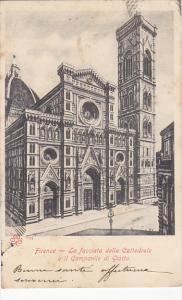 Italy Firenze La facciata della Cattedrale e il Campanile di Giotto 1904