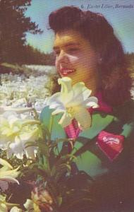 Bermuda Beautiful Girl With Easter Lilies