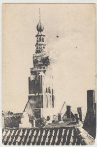 Netherlands; Vlissingen, Tower Of St Jacob's Church On Fire, 5-9-1911 PPC Unused