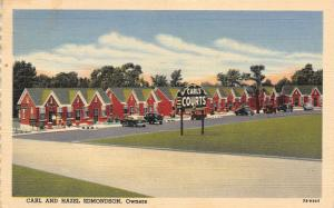 Forest City Arkansas~Carl's Court No 2~Roadside Motel~Art Deco Sign~1947 Linen