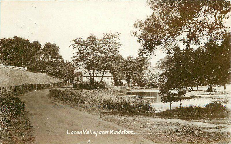 Loose Valley Maidstone Kent UK 1909 RPPC Photo Postcard 222