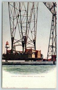 Duluth Minnesota~Packed Passenger on Aerial Bridge~1906 VO Hammon Postcard