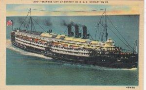 Steamer CITY OF DETROIT III, D & C Navigation Co. 1930-40s