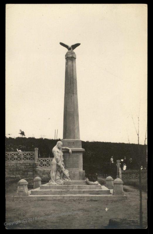 Czech Legion in Russia WWI Legion Memorial  RPPC 90330