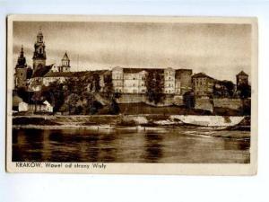 173963 POLAND KRAKOW Wawel od strony Wisly Vintage postcard