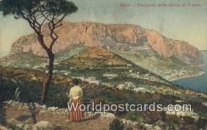 Capri, Italy, Italia Panorama dalle rovine di Tiberio  Panorama dalle rovine ...