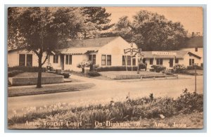 Postcard Ames Tourist Court Lincoln Highway 30 Ames Iowa pc1885