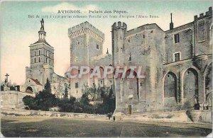 Old Postcard Avignon Popes' Palace