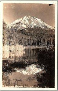 RPPC CA Mt. Lassen From Manzanita Lake California Real Photo Postcard BC*