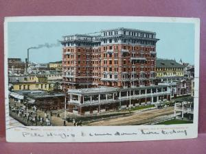 Old Postcard NJ Atlantic City Chalfonte Hotel 1907 Glitter