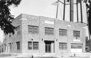 Tipton IA Art Deco City Hall~All You Can See Is The Water Tower's Legs RPPC 1954