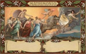 E. Sborgi #78 MATRIMONIO Renaissance Art Beautiful Border c1910 Postcard