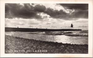 Lake Huron Kincardine ON Ontario Bruce County Unused Real Photo Postcard E30
