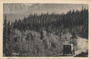 ALASKA, 1930s; Magnificent mountain scenery along the Alaskan Highway
