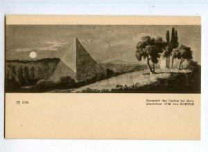 247400 ITALY GOETHE Rome Pyramid of Cestius Vintage postcard