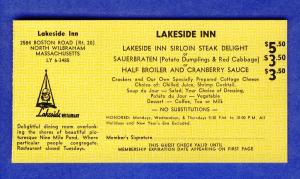 1968 Lakeside Inn 'Dine-Out' Coupon,North Wilbraham, Mass/MA