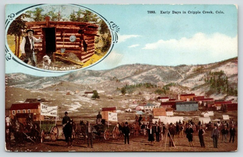 Cripple Creek Colorado~Early Days on Main Street~Ore Mines Carts~First Cabin~'10