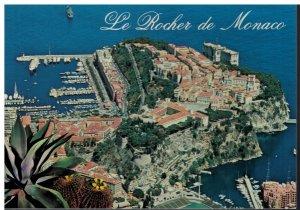 Postcard - Le Rocher De Monaco Aerial View - Monte Carlo Monaco