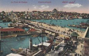 CONSTANTINOPLE (Turkey), 00-10s ; Le Pont de Galata, 1900-10s