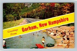 Gorham NH- New Hampshire, General Greetings, Banner, Chrome Postcard