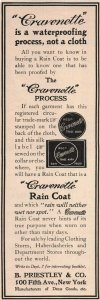 1907 Original Print Ad Cravenette Rain Coat New York 2P1-6