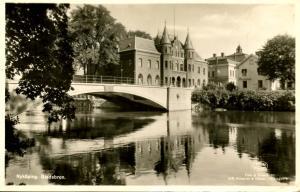Sweden - Nykoping. Stadsbron (city bridge) *RPPC