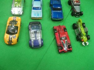 Vintage Lot of Twenty (20) Toy Cars Various Styles Yellow & Black Stripes