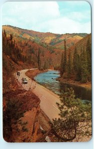 The Lewis and Clark Highway Lochsa River Vintage Postcard E11