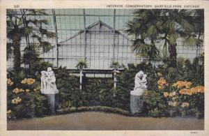 Interior of the Conservatory, Garfield Park, Chicago, Illinois, 1930-40s