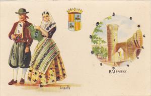 Spain Baleares Native Costume Signed Iraola
