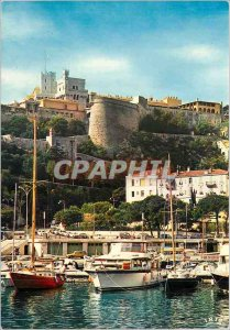 Modern Postcard Principality of Monaco on the Rock the Prince's Palace View f...