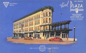 Chattanooga TN~Hotel Plaza~ART DECO Vignette~Triangle Grill~Blue Back Linen~1939