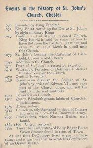 CHESTER , England , 1900-10s ; History of St. John's Church