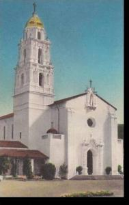 California Saint Marys College Chapel Handcolored Albertype