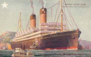 White Star Ocean Liner R.M.S. LAURENTIC , 1900-10s